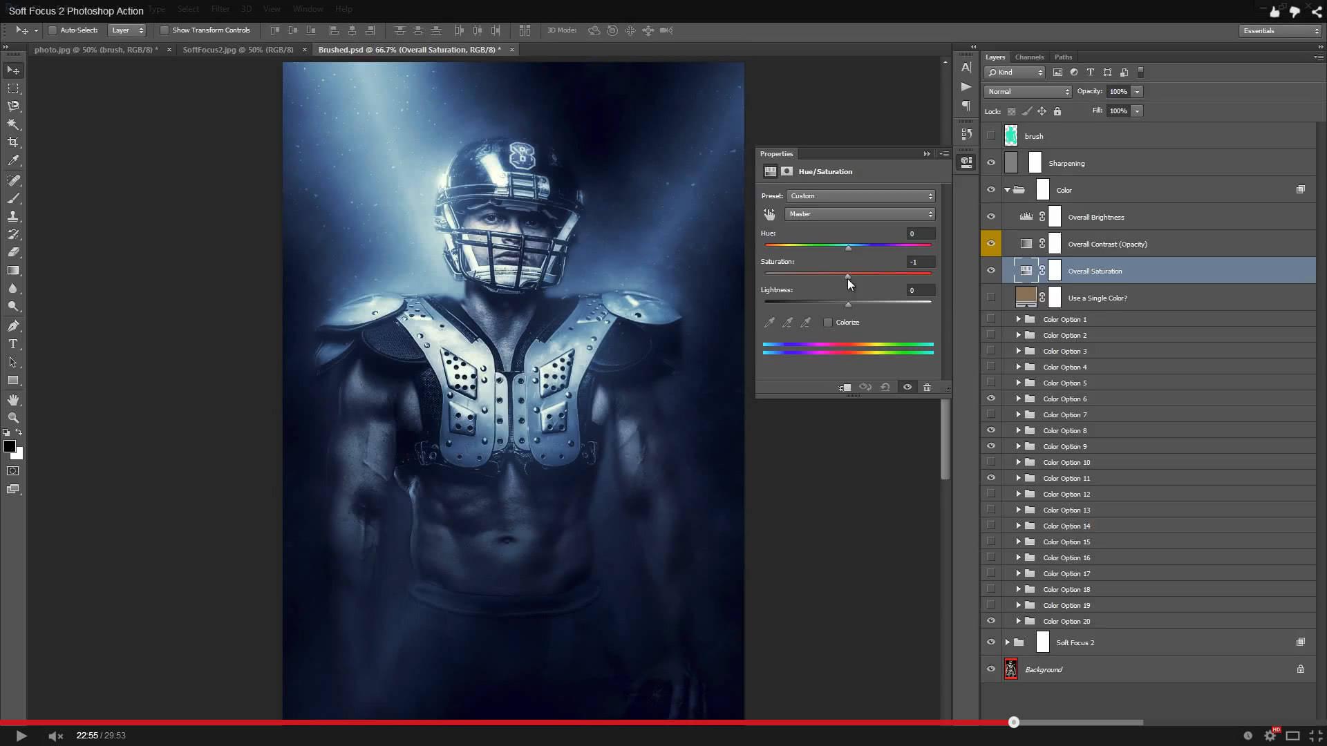 Soft Focus 2 Photoshop Action - 1