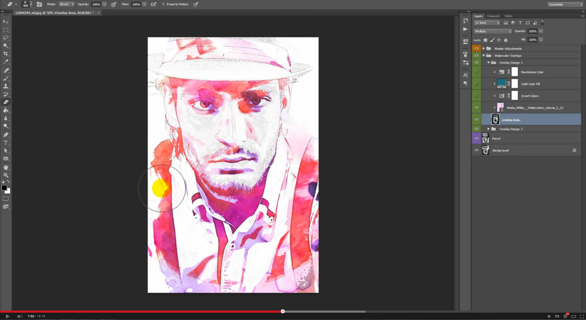 Watercolor & Pencil Photoshop Action - 1