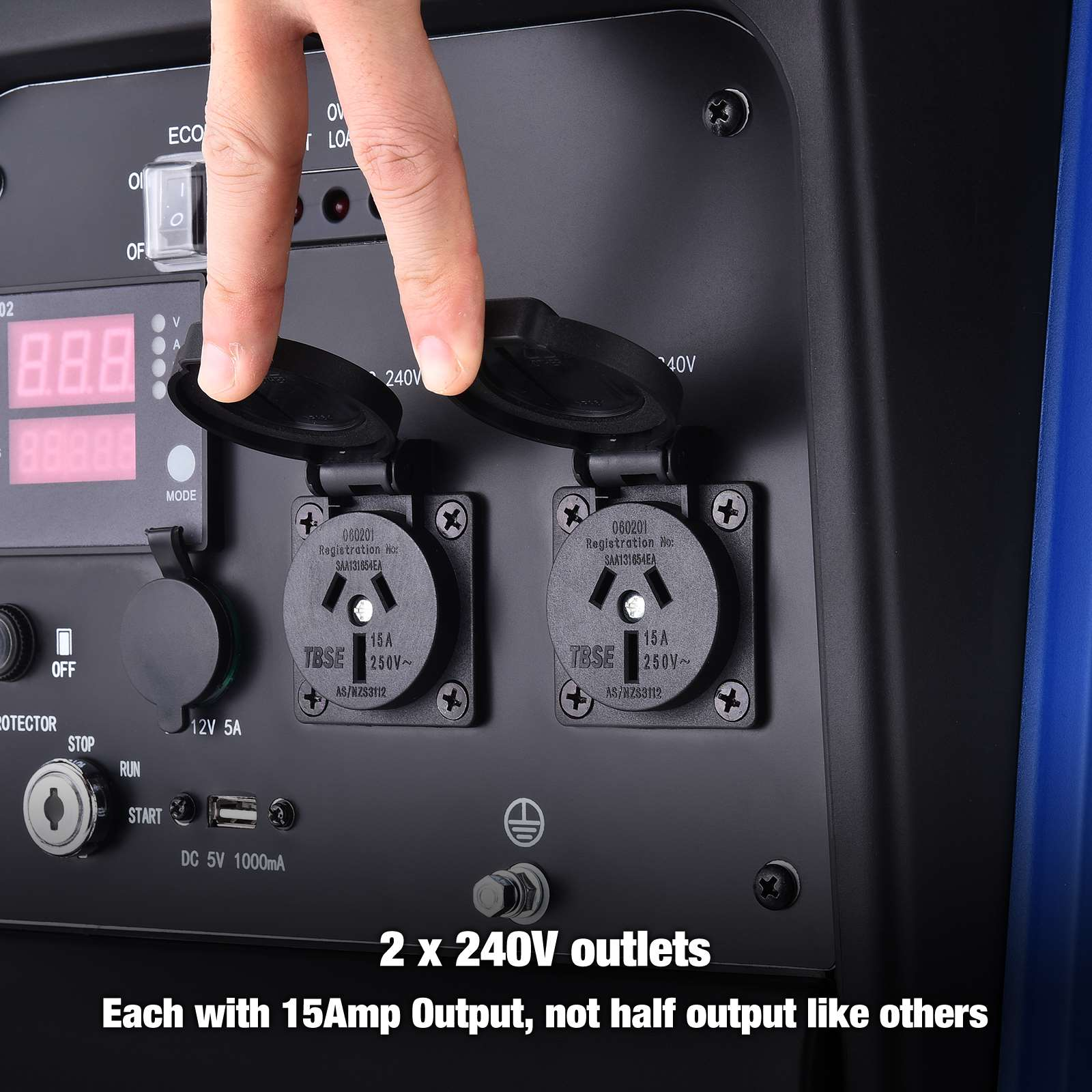 [15%OFF] GenTrax Inverter Generator 3.5KW Max 3.2KW Rated Remote Portable Petrol 11
