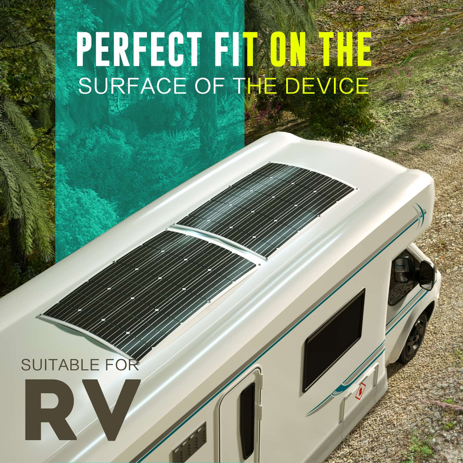 15-OFF-100W-120W-200W-250W-Flexible-Solar-Panel-Kit-Mono-Caravan-Power-Charging thumbnail 17