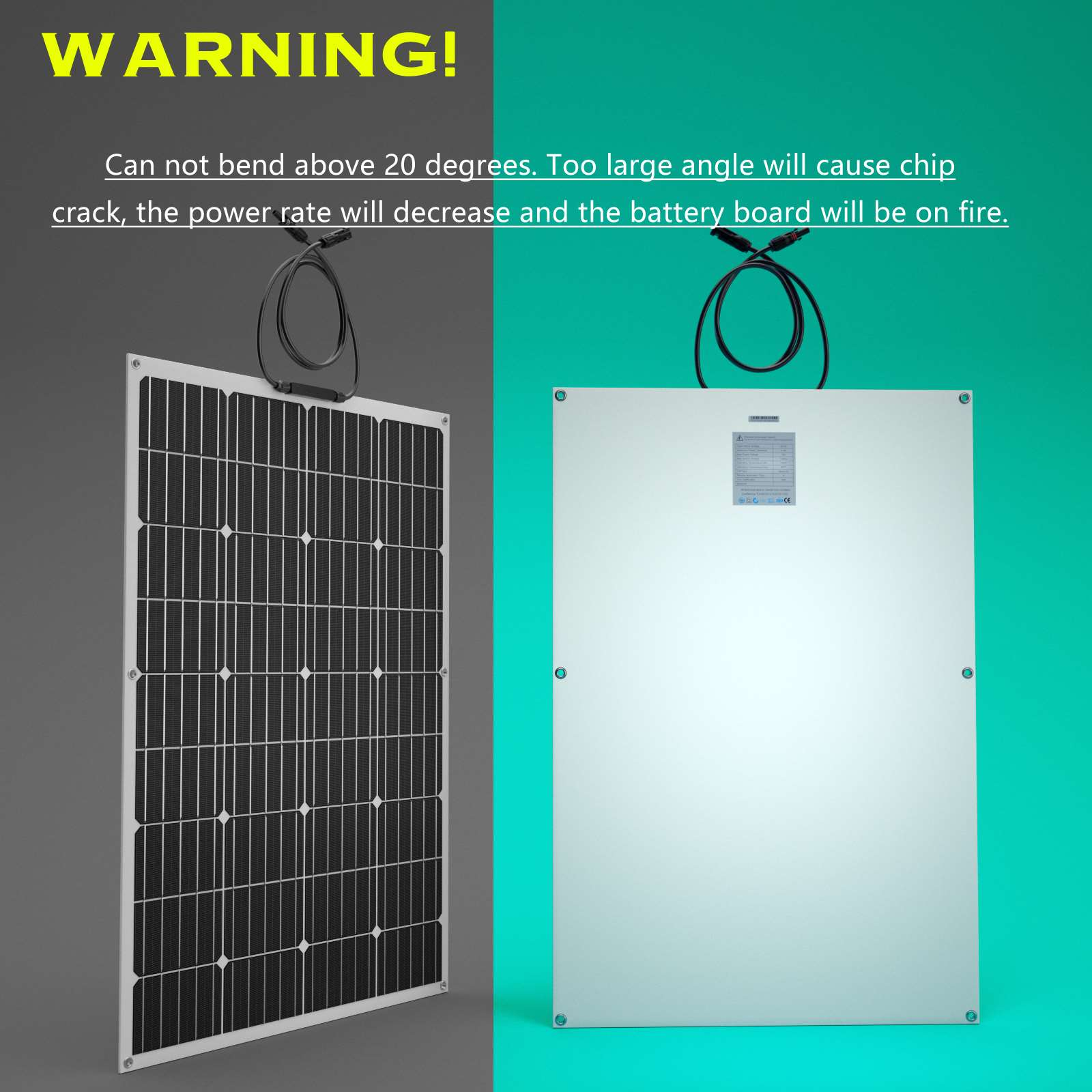 15-OFF-100W-120W-200W-250W-Flexible-Solar-Panel-Kit-Mono-Caravan-Power-Charging thumbnail 25