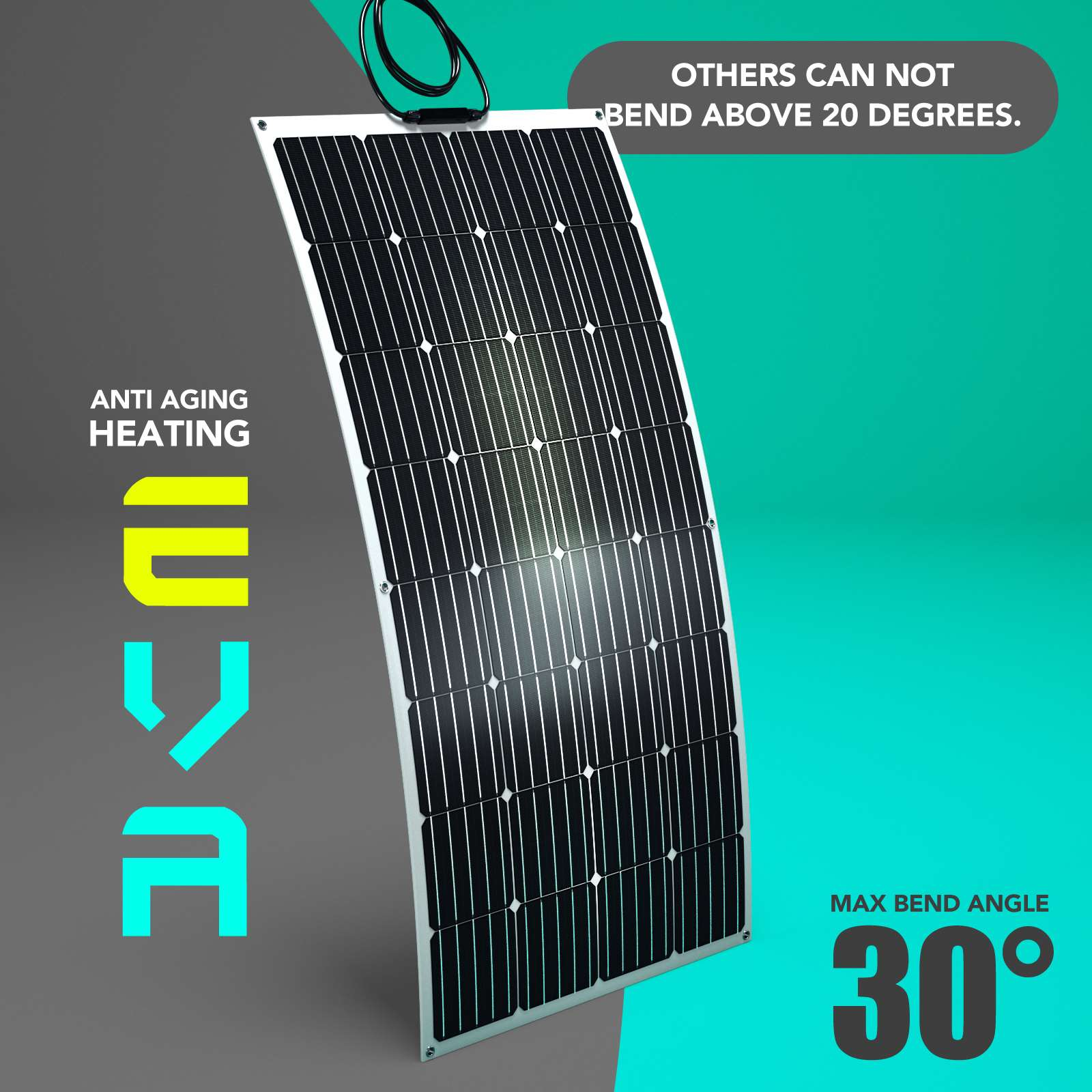 15-OFF-100W-120W-200W-250W-Flexible-Solar-Panel-Kit-Mono-Caravan-Power-Charging thumbnail 27