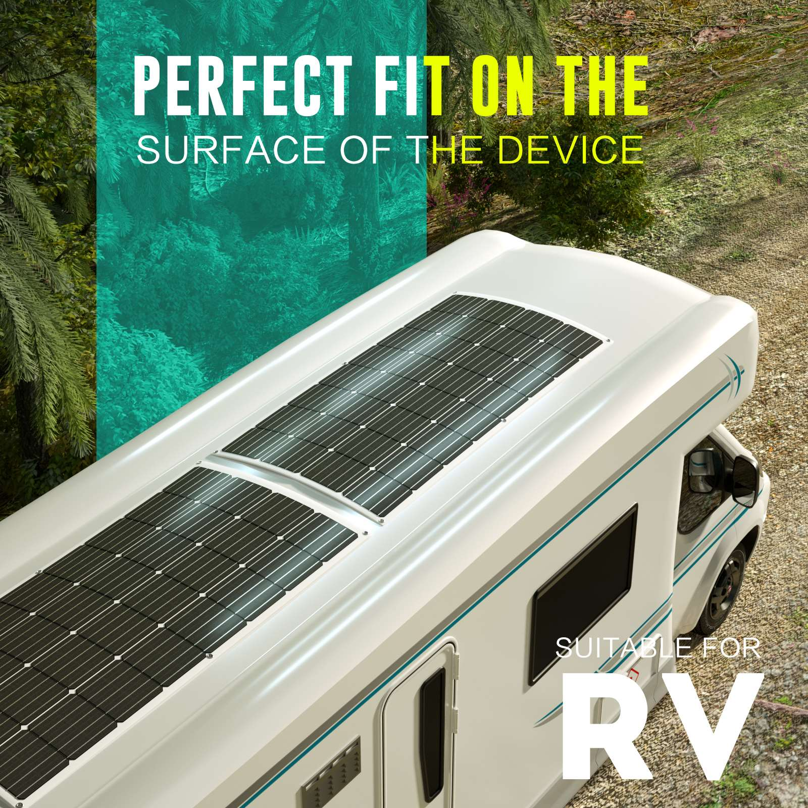 15-OFF-100W-120W-200W-250W-Flexible-Solar-Panel-Kit-Mono-Caravan-Power-Charging thumbnail 29