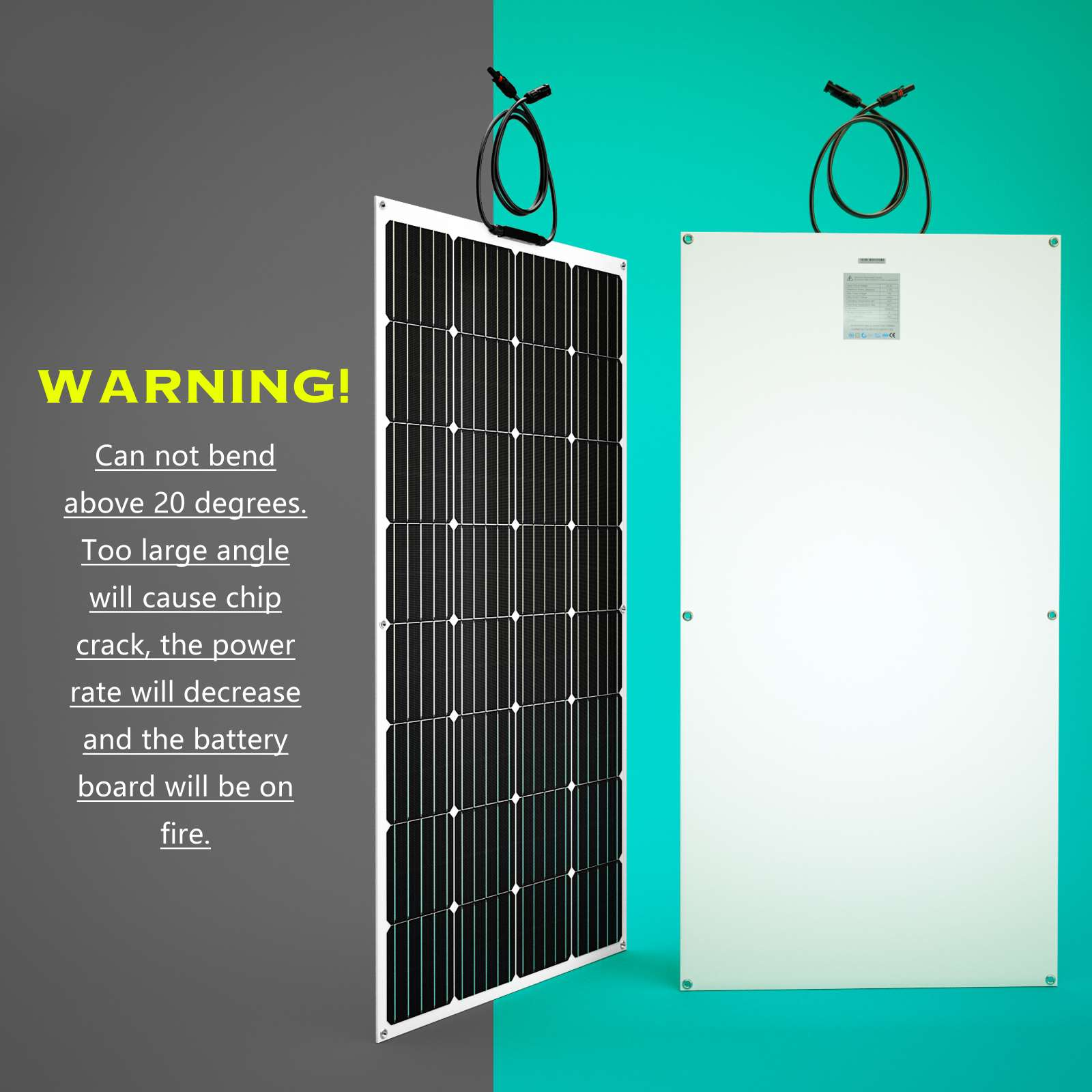 15-OFF-100W-120W-200W-250W-Flexible-Solar-Panel-Kit-Mono-Caravan-Power-Charging thumbnail 37