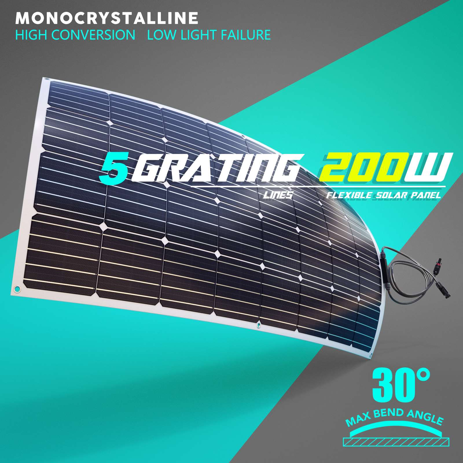 15-OFF-100W-120W-200W-250W-Flexible-Solar-Panel-Kit-Mono-Caravan-Power-Charging thumbnail 26