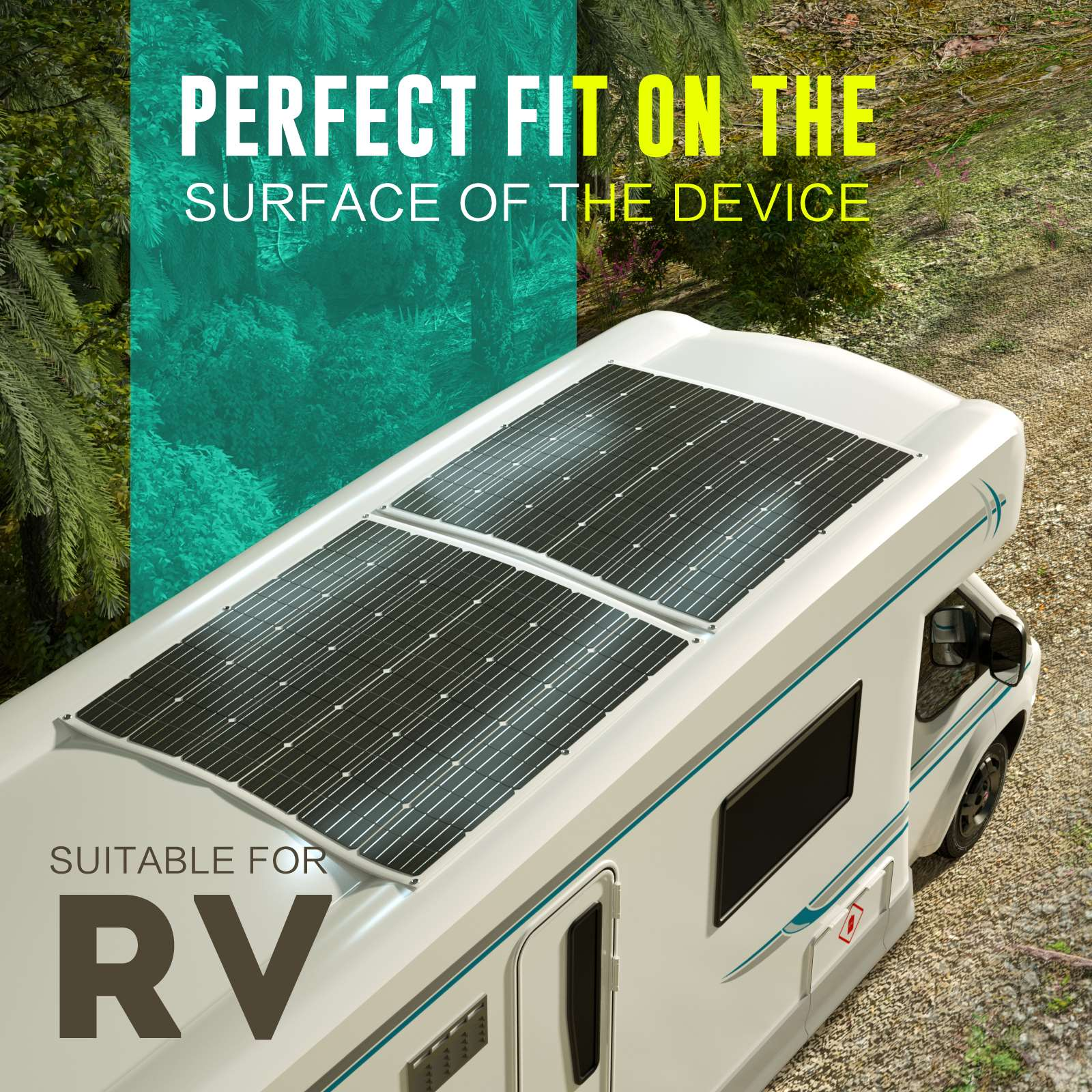 15-OFF-100W-120W-200W-250W-Flexible-Solar-Panel-Kit-Mono-Caravan-Power-Charging thumbnail 41