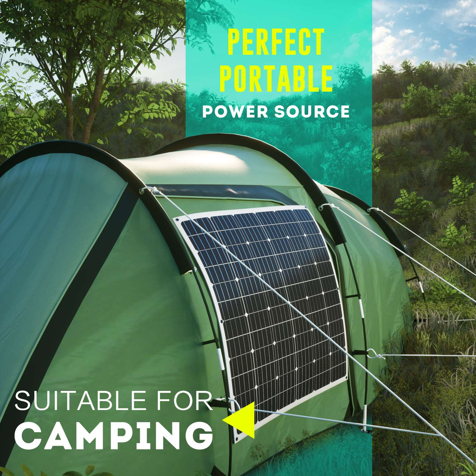 15-OFF-100W-120W-200W-250W-Flexible-Solar-Panel-Kit-Mono-Caravan-Power-Charging thumbnail 47