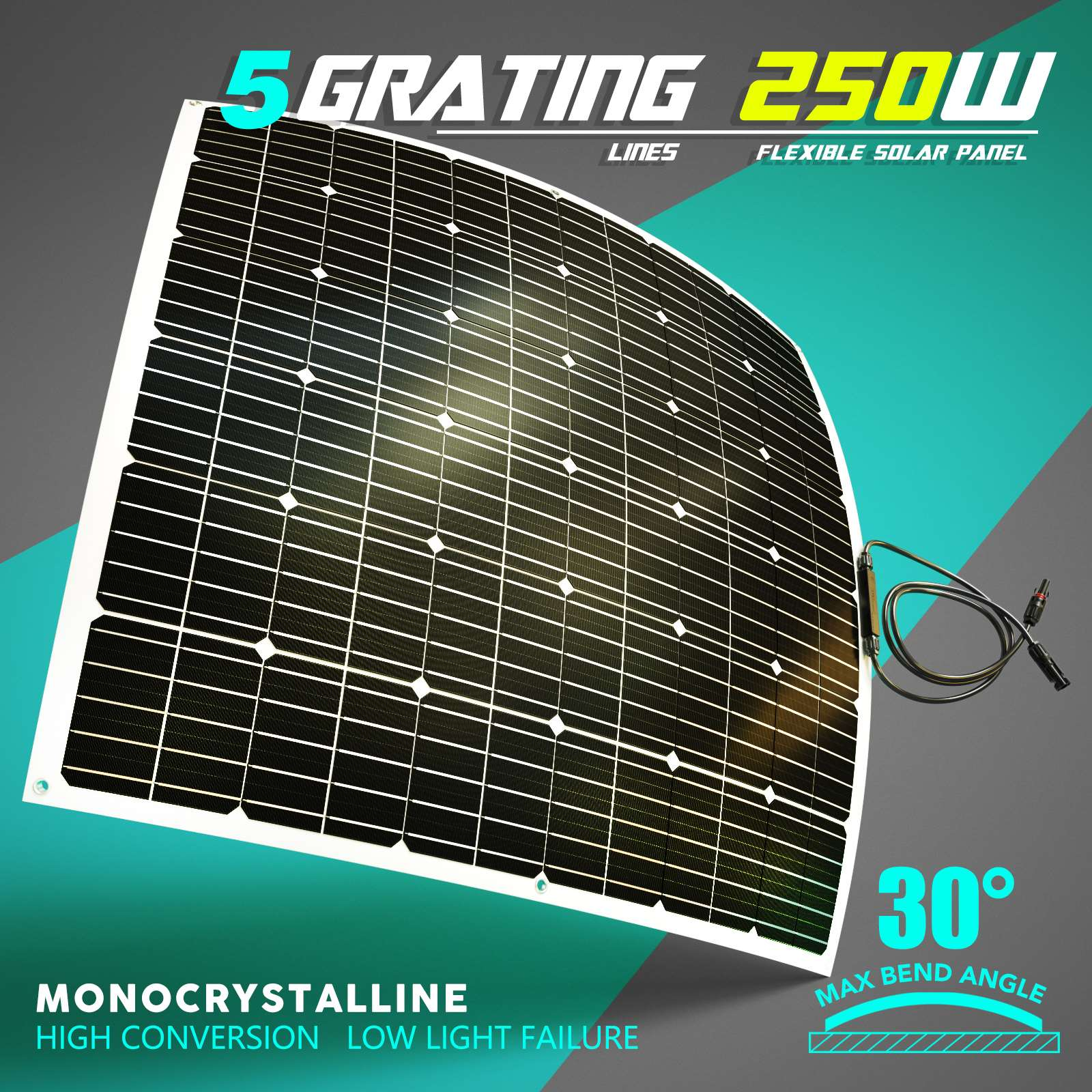 15-OFF-100W-120W-200W-250W-Flexible-Solar-Panel-Kit-Mono-Caravan-Power-Charging thumbnail 38