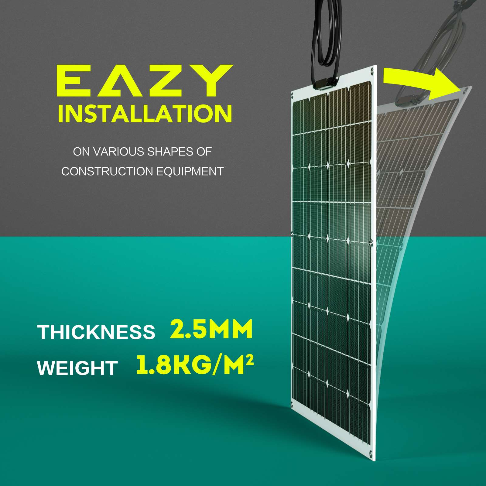 15-OFF-100W-120W-200W-250W-Flexible-Solar-Panel-Kit-Mono-Caravan-Power-Charging thumbnail 4