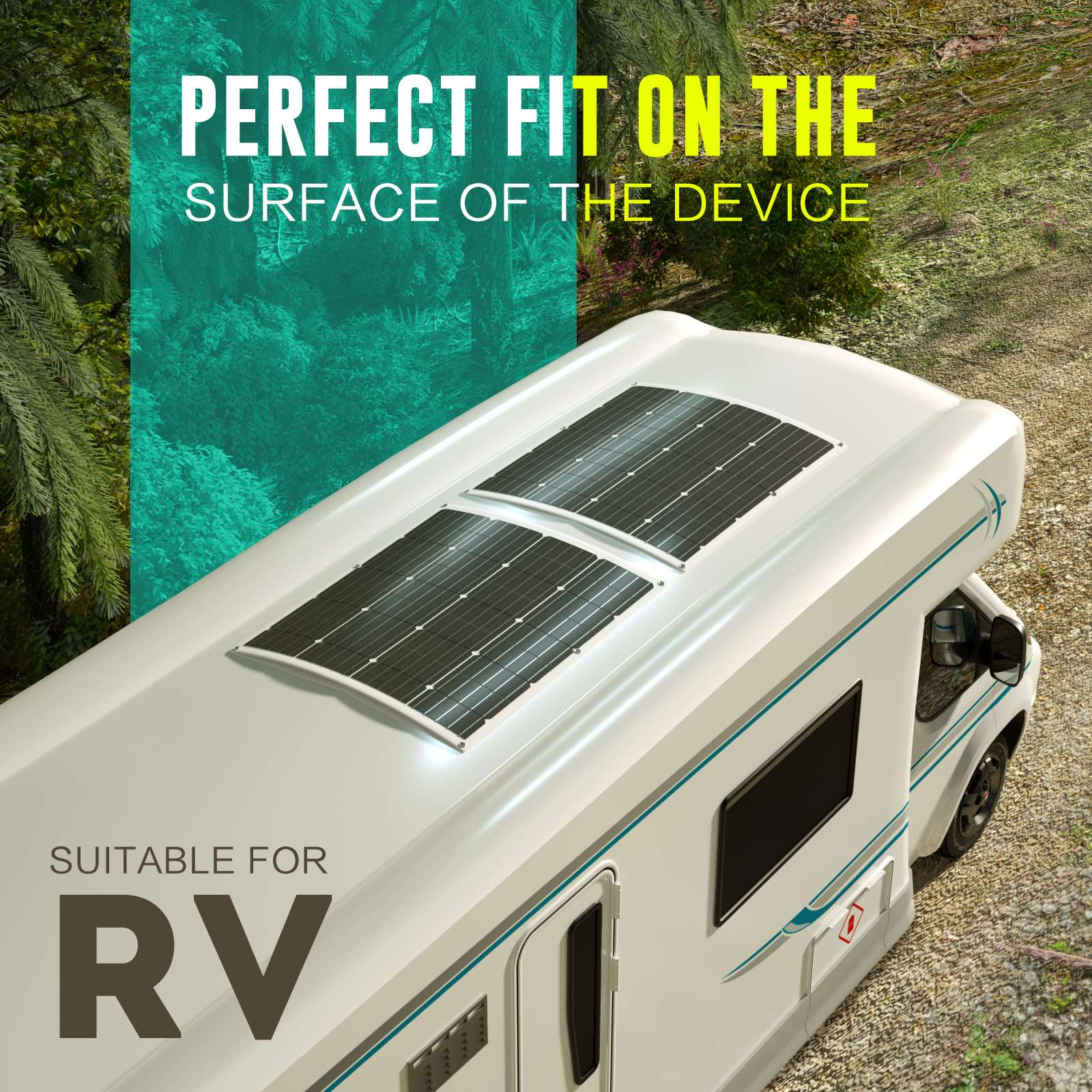 15-OFF-100W-120W-200W-250W-Flexible-Solar-Panel-Kit-Mono-Caravan-Power-Charging thumbnail 5