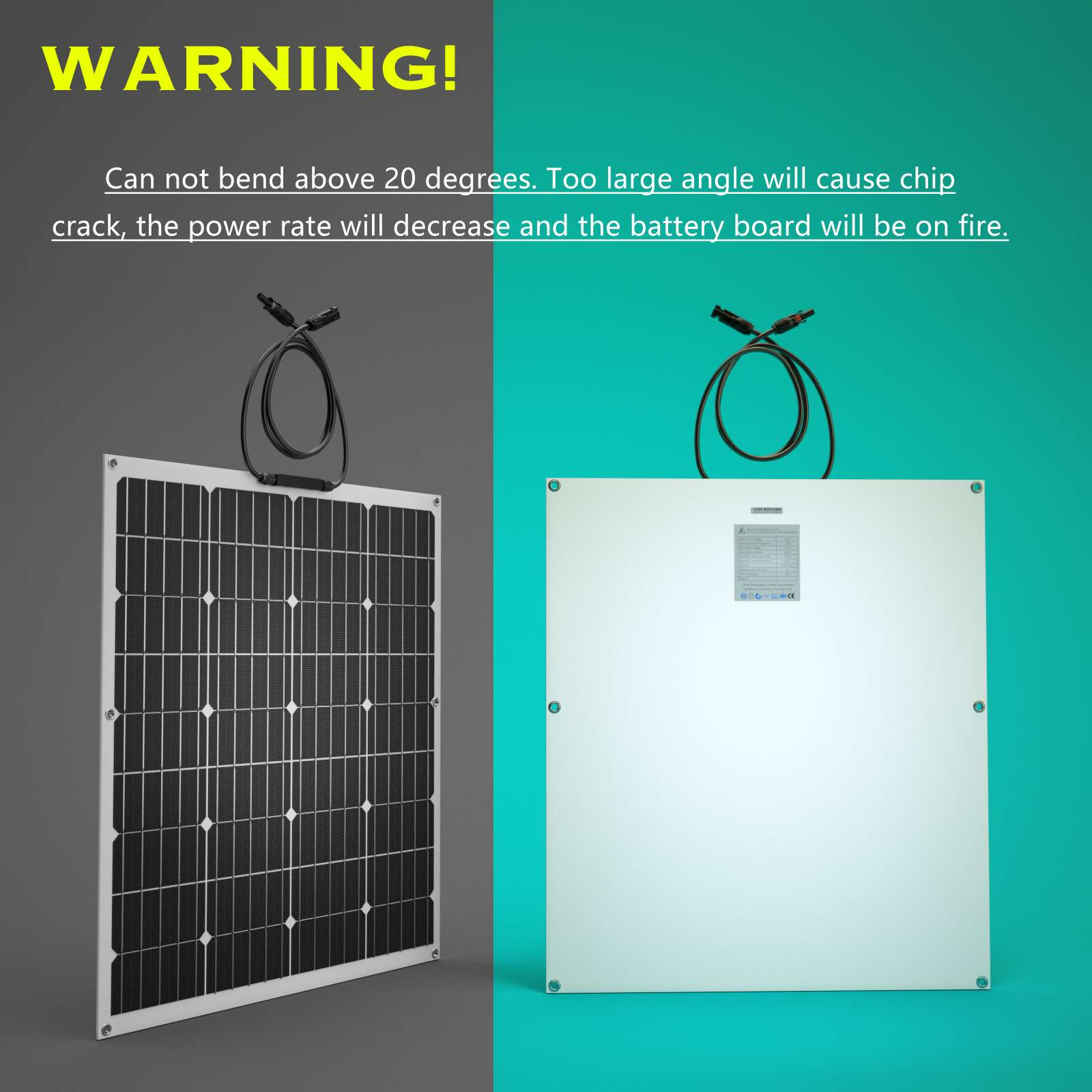 15-OFF-100W-120W-200W-250W-Flexible-Solar-Panel-Kit-Mono-Caravan-Power-Charging thumbnail 13
