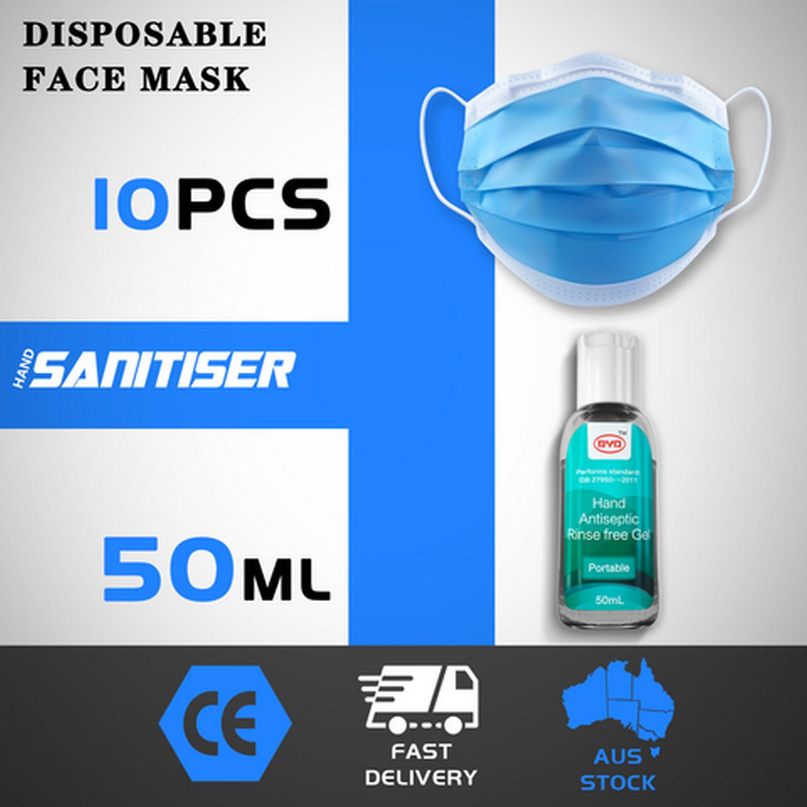 thumbnail 50 - 50/100pcs Disposable Face Mask Protective Mouth Masks 3 Layer Meltblown Filter