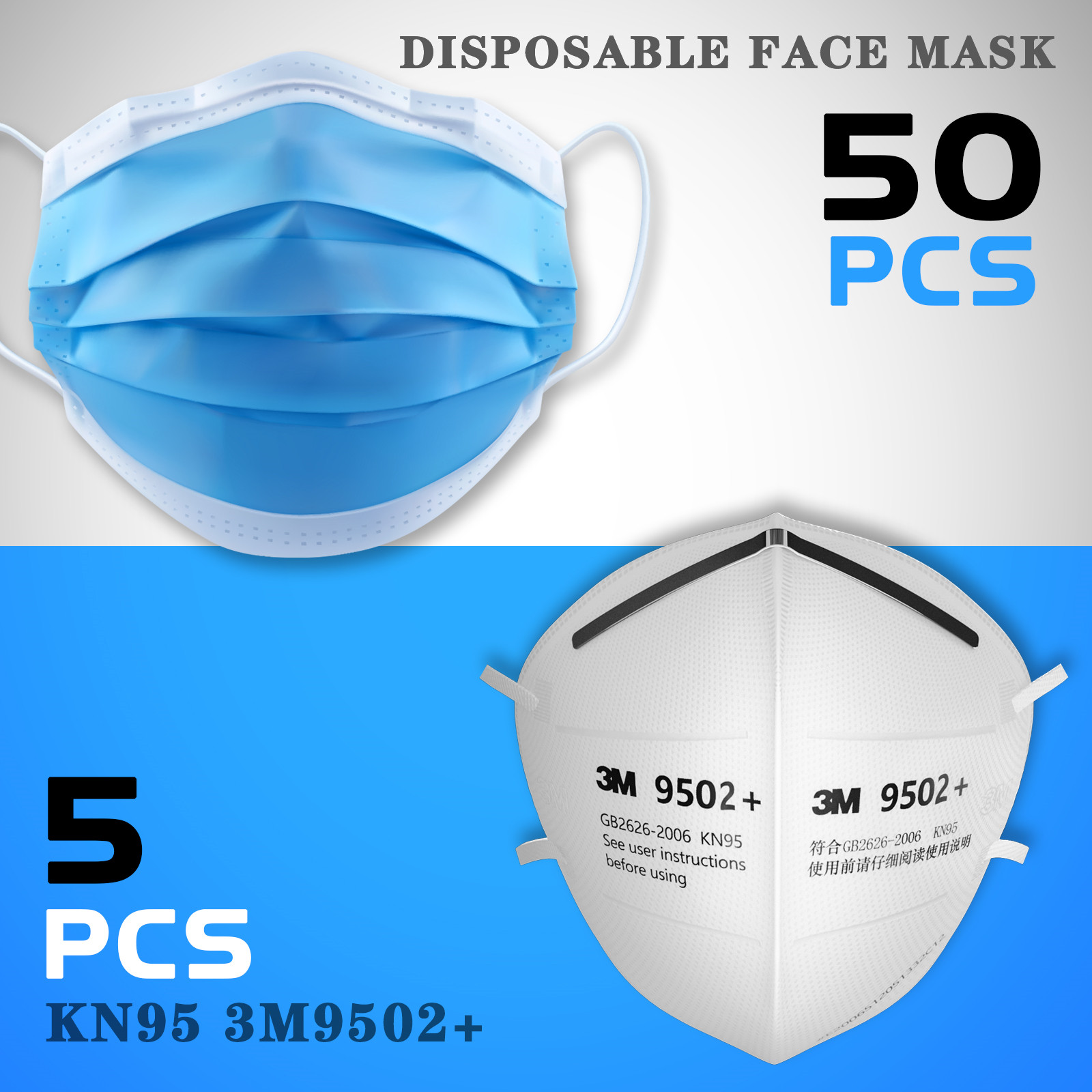 thumbnail 38 - 50/100pcs Disposable Face Mask Protective Mouth Masks 3 Layer Meltblown Filter