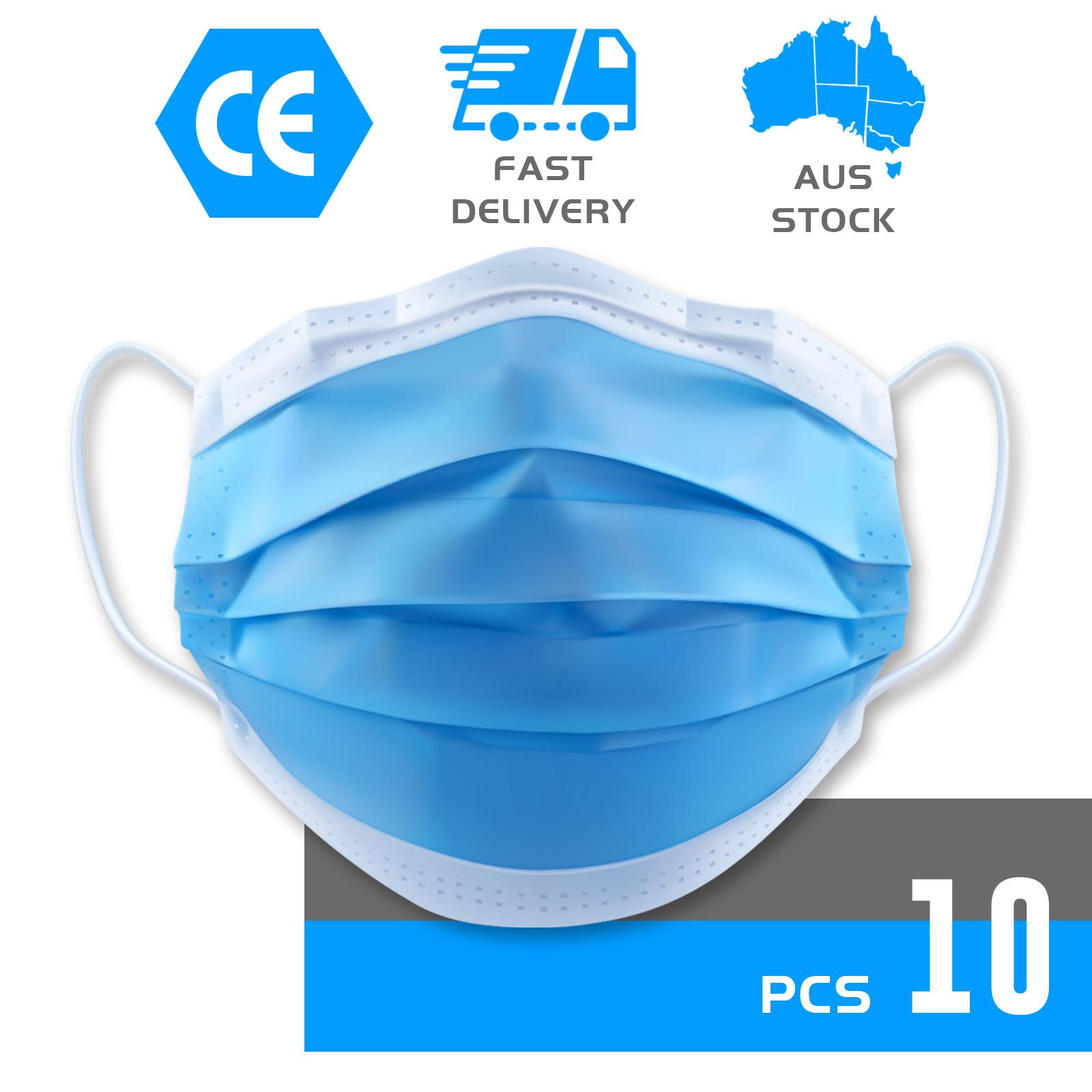thumbnail 2 - 50/100pcs Disposable Face Mask Protective Mouth Masks 3 Layer Meltblown Filter