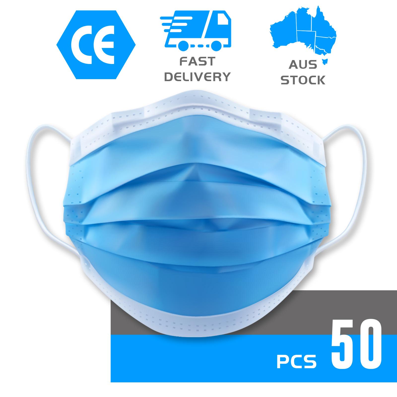 thumbnail 14 - 50/100pcs Disposable Face Mask Protective Mouth Masks 3 Layer Meltblown Filter