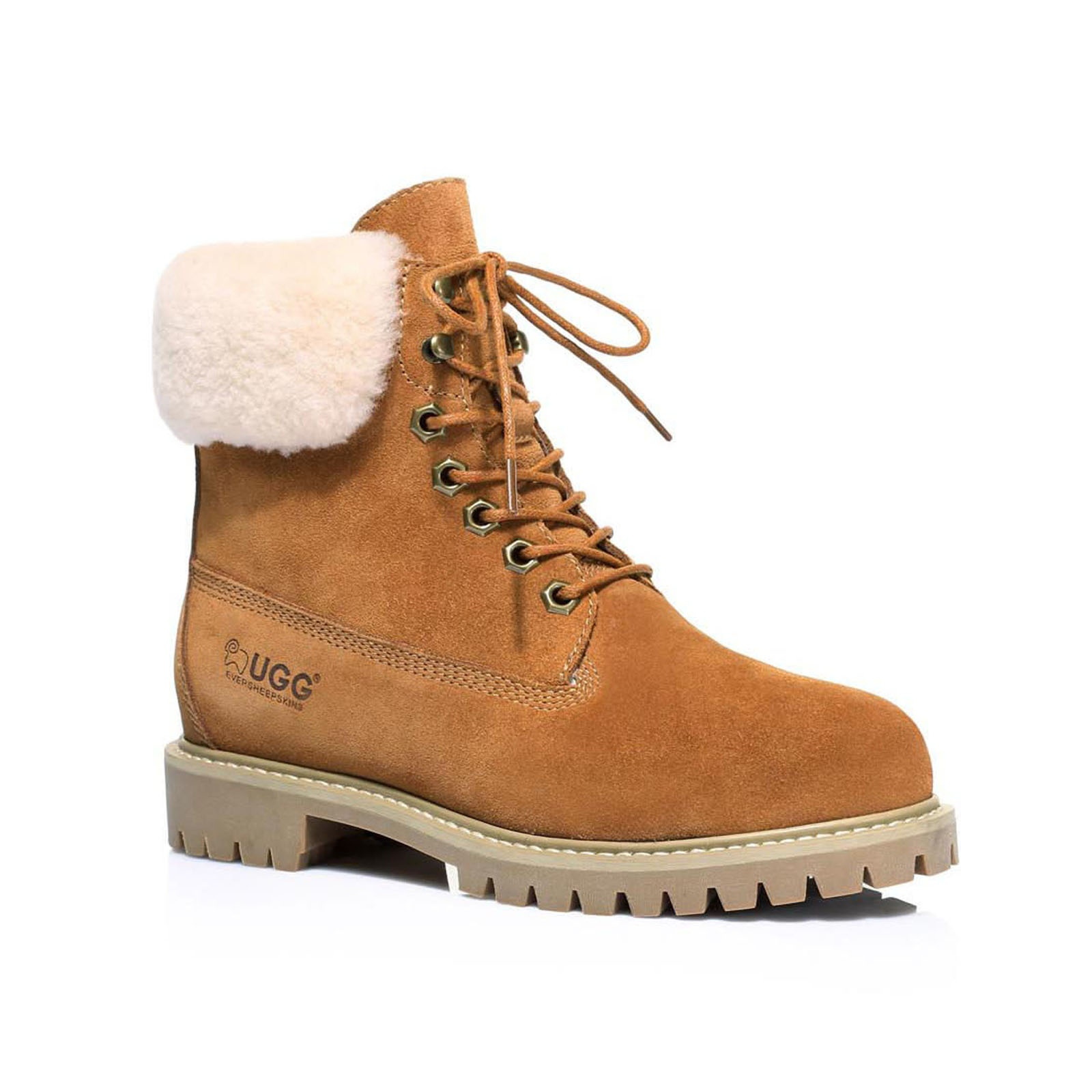 UGG-Boots-Australian-wool-Genuine-Hope-Ladies-Fashion-with-Front-Lace-lining thumbnail 5