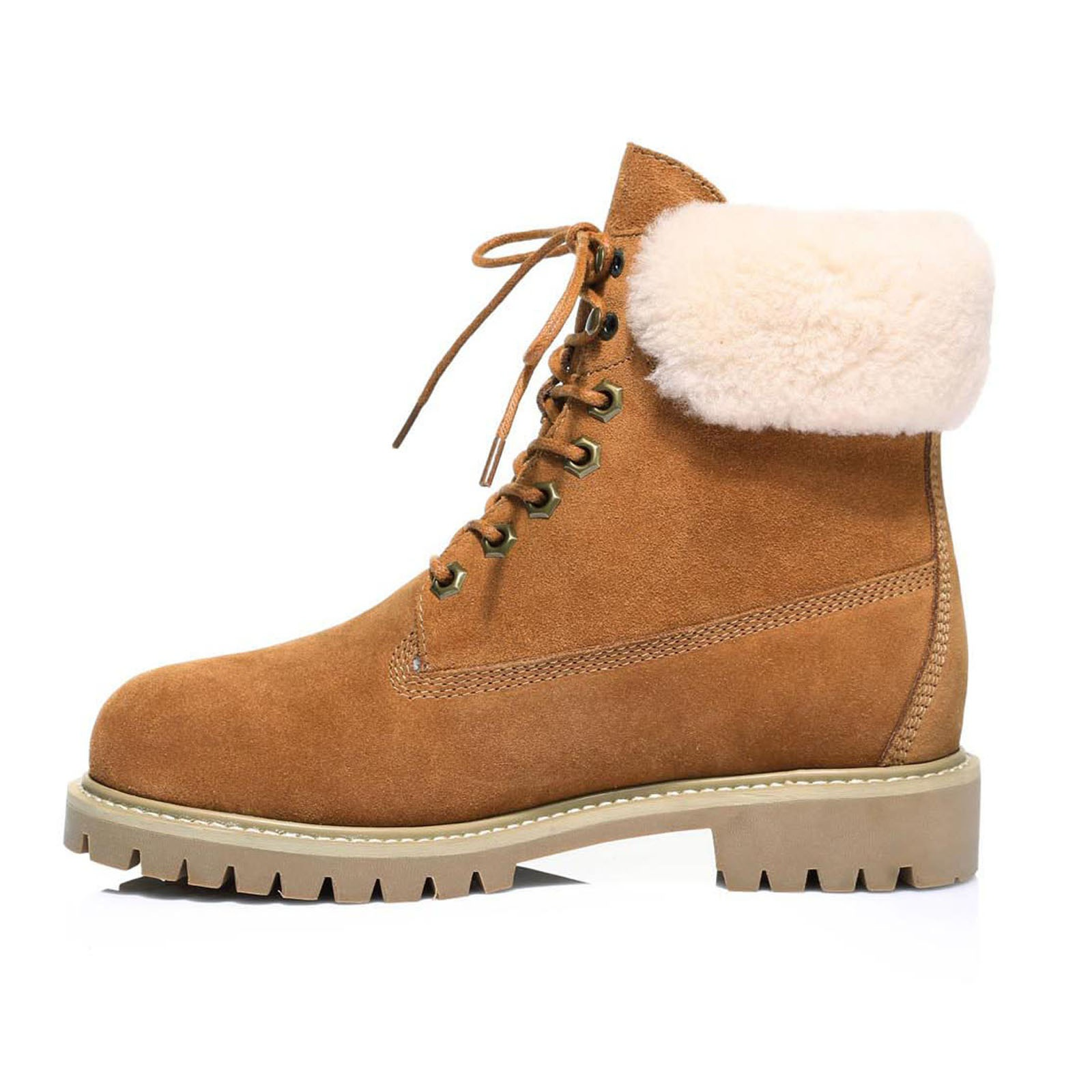 UGG-Boots-Australian-wool-Genuine-Hope-Ladies-Fashion-with-Front-Lace-lining thumbnail 6