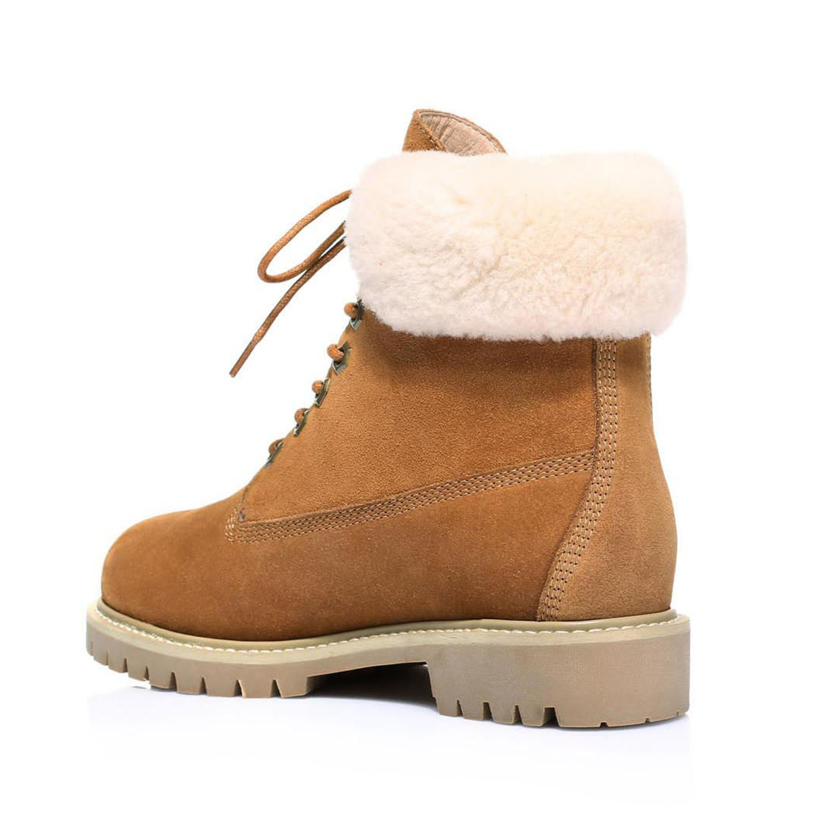 UGG-Boots-Australian-wool-Genuine-Hope-Ladies-Fashion-with-Front-Lace-lining thumbnail 7