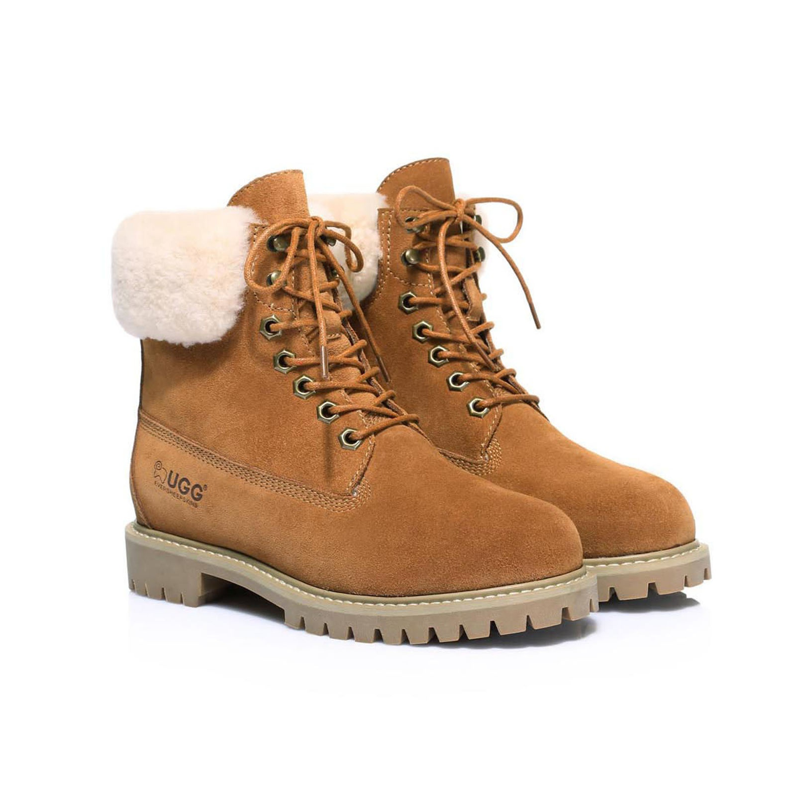 UGG-Boots-Australian-wool-Genuine-Hope-Ladies-Fashion-with-Front-Lace-lining thumbnail 8