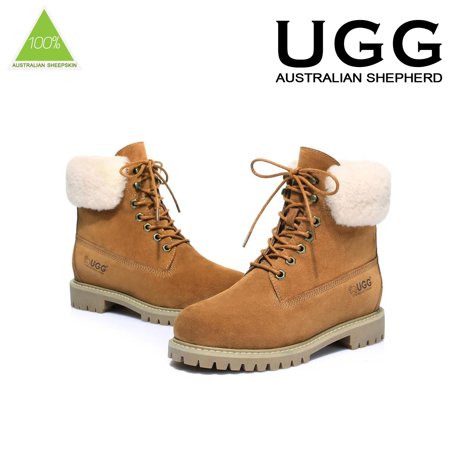 UGG-Boots-Australian-wool-Genuine-Hope-Ladies-Fashion-with-Front-Lace-lining