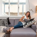 AT HOME WITH BELINDA SlOANE THANKS TO PLUSH SOFAS