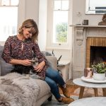AT HOME WITH LUCY CORNES THANKS TO PLUSH SOFAS