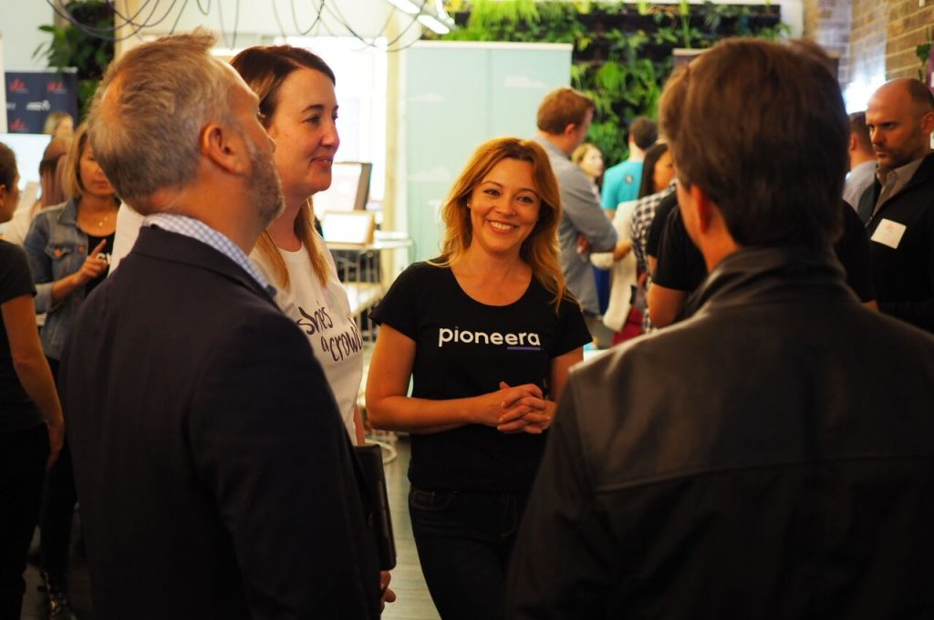 Danielle Owen Whitford, founder of Pioneera on Demo Day!