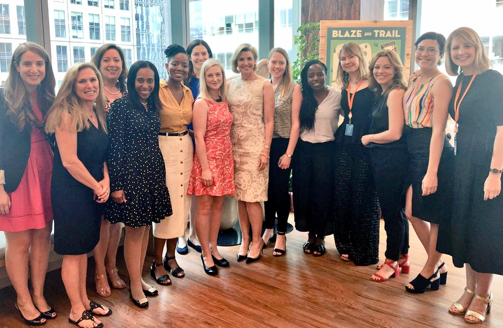 SheStarts founders with Sallie Krawcheck at Salesforce