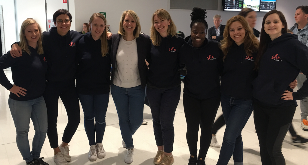 SheStarts founders before traveling to America
