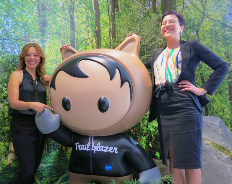 Danielle and Zoe SheStarts founders at Salesforce