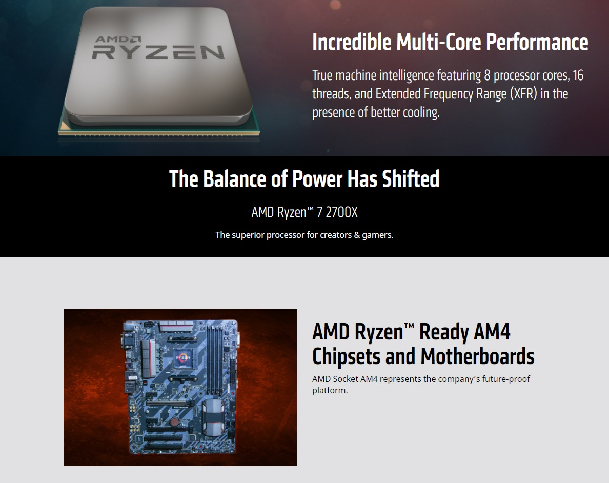 Image result for Incredible Multi-Core Performance True machine intelligence featuring 8 processor cores, 16 threads, and Extended Frequency Range (XFR) in the presence of better cooling.