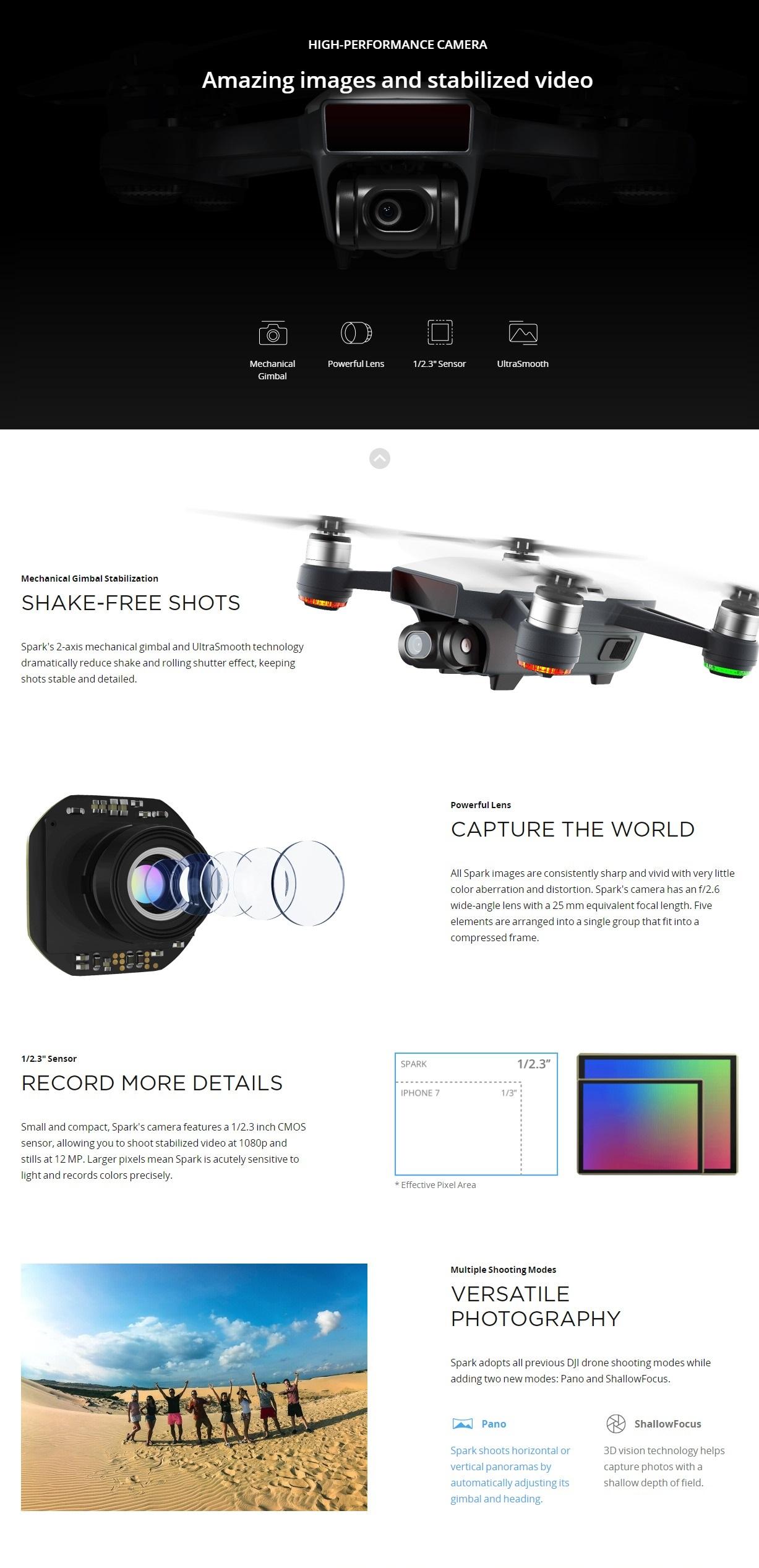 Open Box Sale -- DJI Spark Mini Drone (Alpine White)