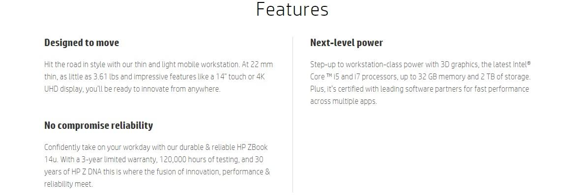 HP ZBook 14u G4 14