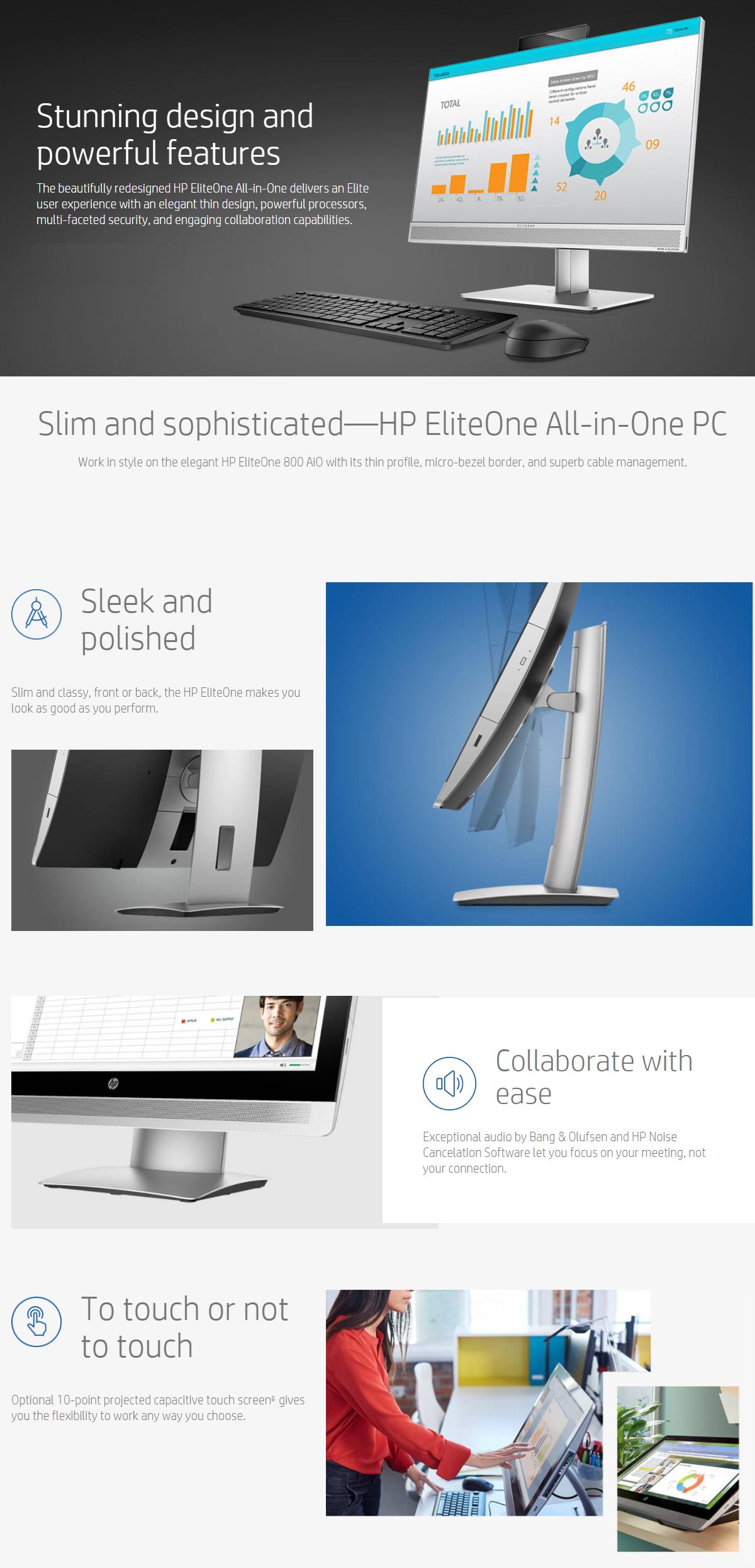 hp eliteone 800 g3 i5 23 8 aio desktop pc fhd tou 1mf48pa shopping express online. Black Bedroom Furniture Sets. Home Design Ideas