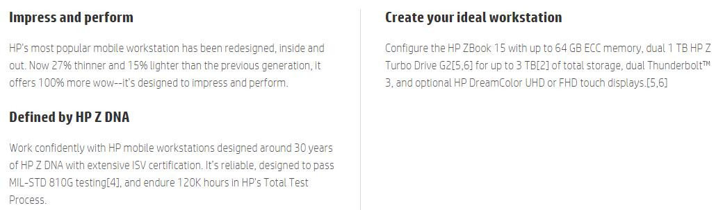 HP ZBook 15 G3 Mobile Workstation LTE 15 6'' i7-6820HQ 8GB 1TB W7/10P