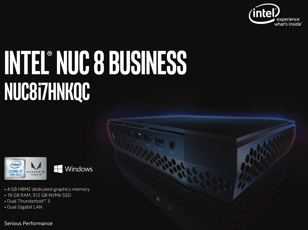 Intel NUC Hades Canyon NUC8i7HNKQC i7-8705G 16GB RX Vega M GL Mini PC