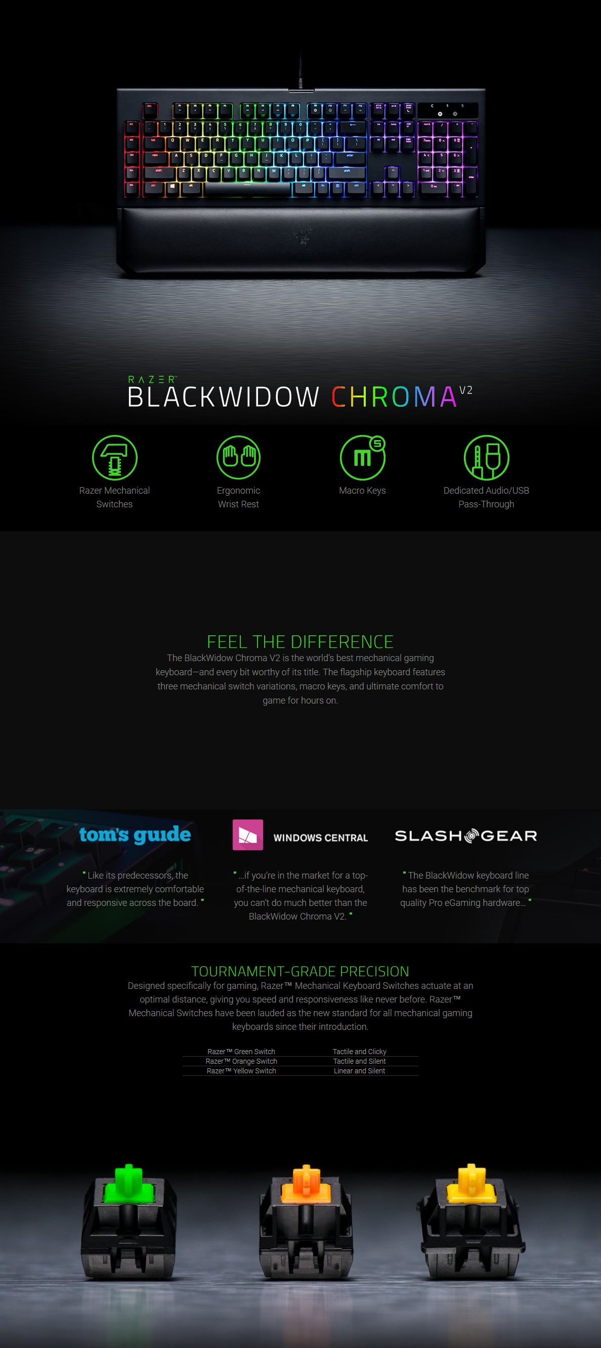 razer blackwidow chroma v2 green gaming keyboard rz03 02030100 r3m1 shopping express online. Black Bedroom Furniture Sets. Home Design Ideas