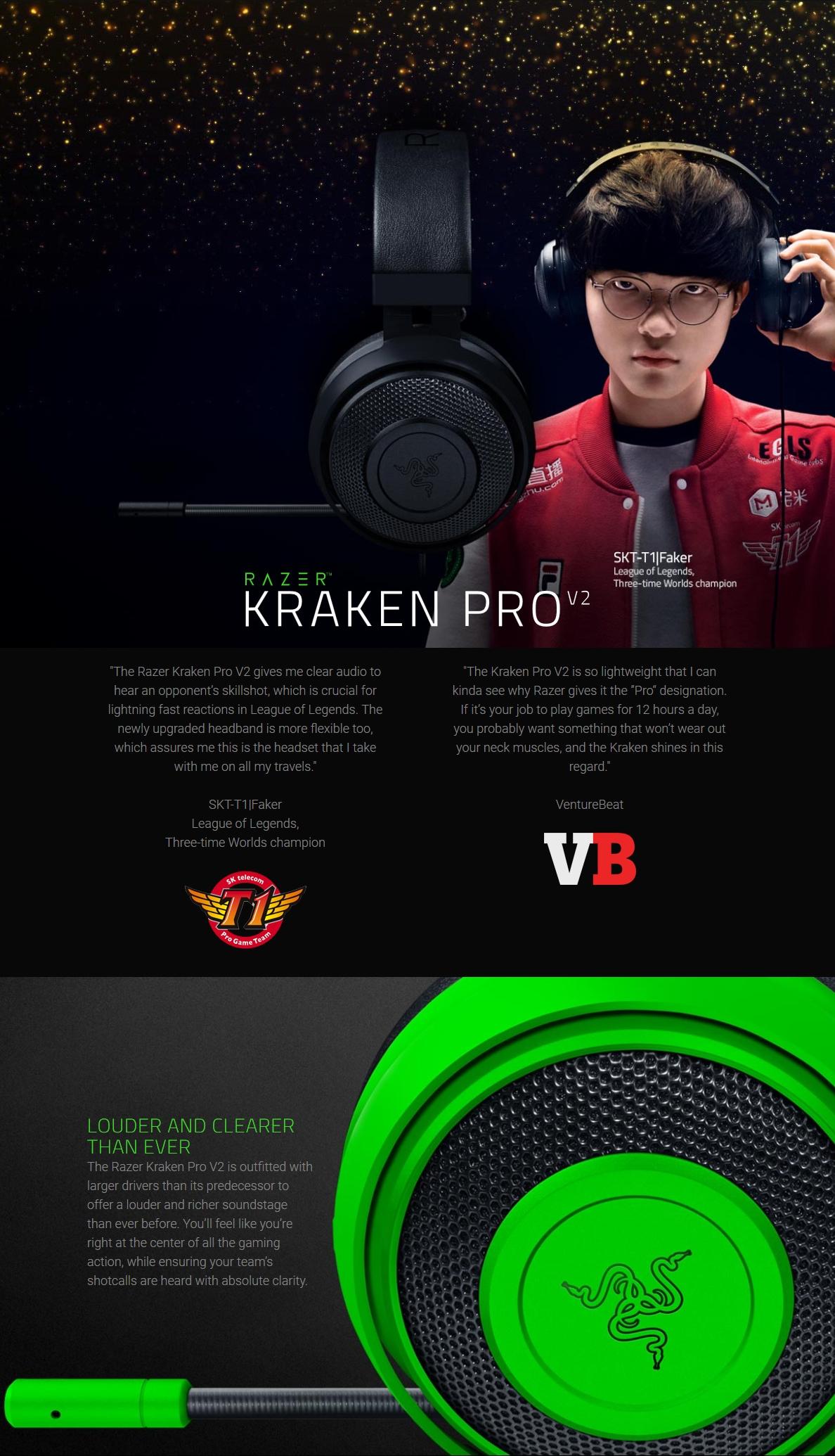 Razer Kraken Pro V2 Green Analog Gaming Headset