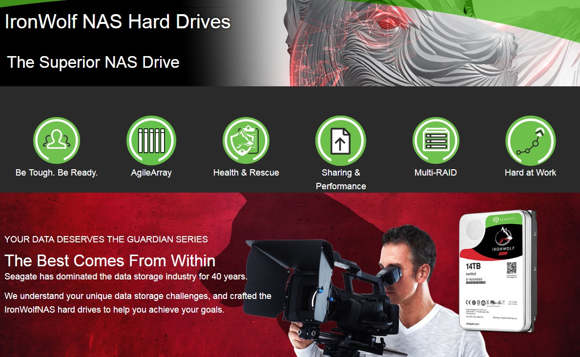 Image result for HDD SATA 14TB SEAGATE IRONWOLF NAS ST14000VN0008