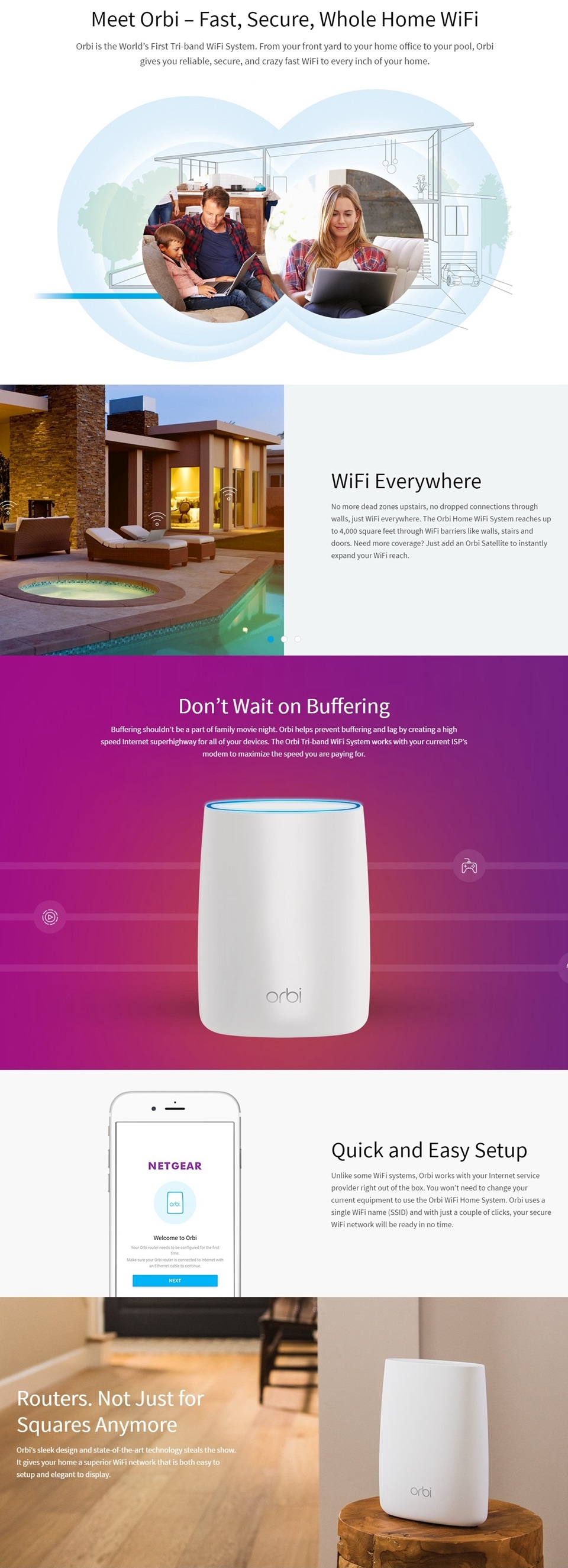 Details about Netgear Orbi AC2200 Whole Home Mesh WiFi Router Systems  Add-on Satellite Only