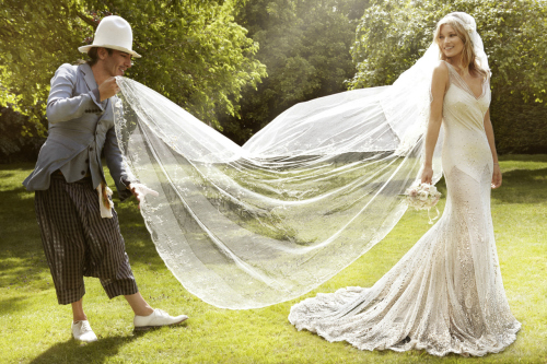 Kate Moss can do no wrong, especially in her vintage-inspired John Galliano wedding gown