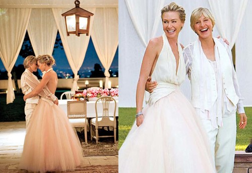 Ellen and Portia, both in Zac Posen. Twice the beauty...
