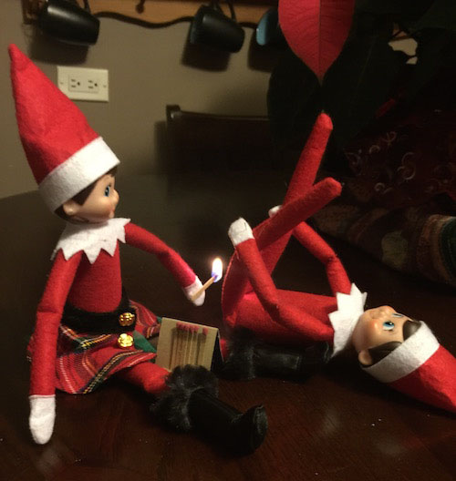 Fart-lighting Elf. Because that's ALWAYS funny....