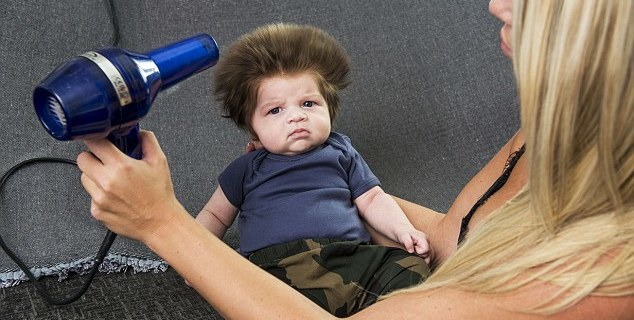 baby with the hair