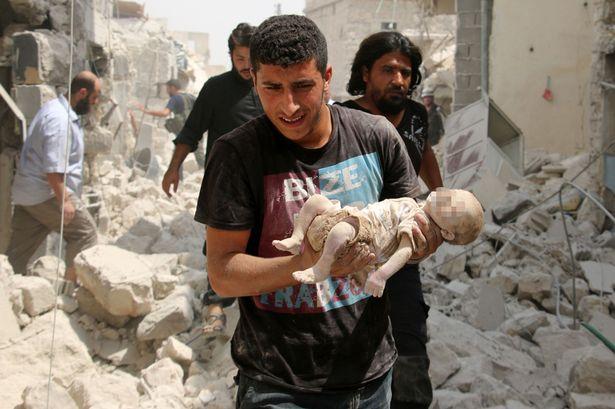 A-Syrian-man dead baby