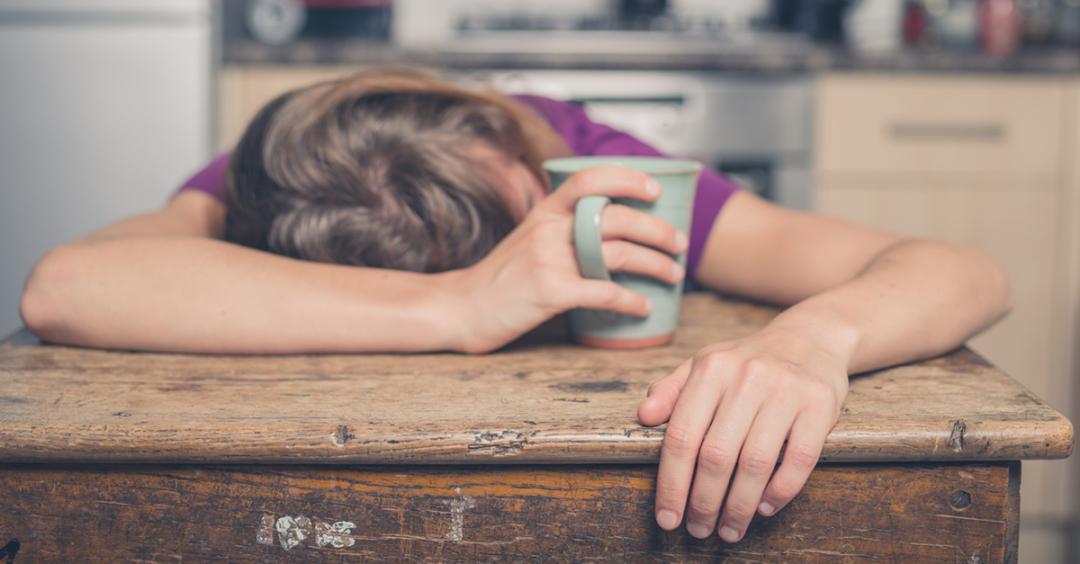 sleep deprived mum