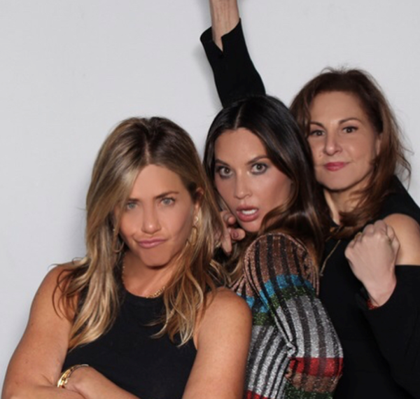 Jennifer Aniston, Olivia Munn and Kathy Najimy.