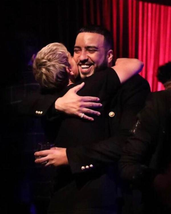 Ellen hugs French Montana