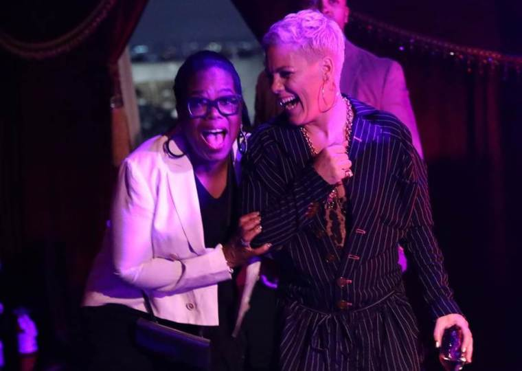 Oprah and Pink. Party dream guests.