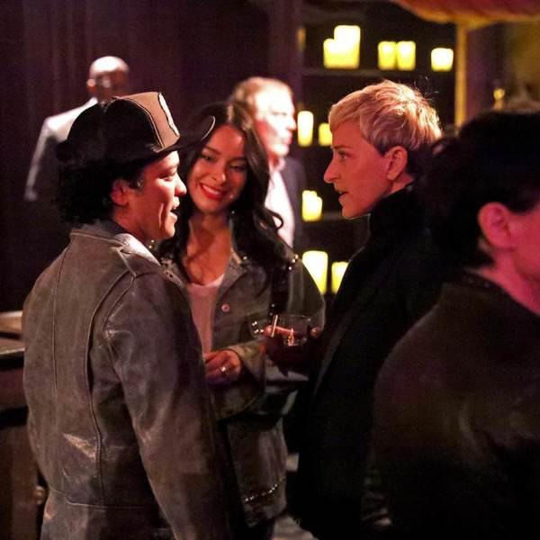 Ellen and Bruno Mars.